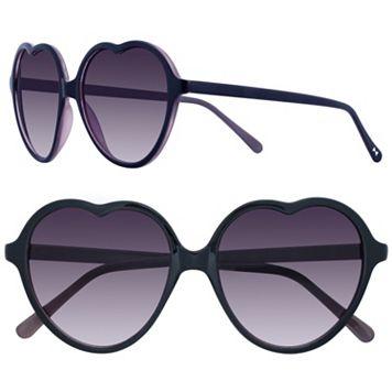 LC Lauren Conrad 57mm Lust Heart Gradient Sunglasses