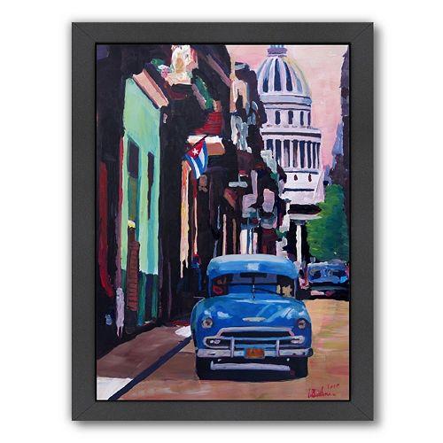 Americanflat Cuban Street Scene Framed Wall Art