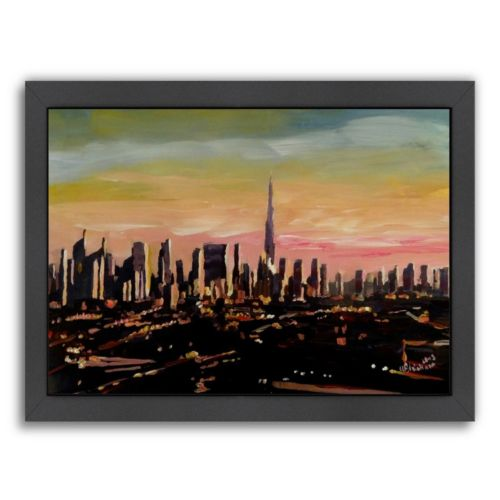 Americanflat Dubai Framed Wall Art