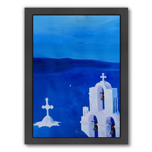 Americanflat Enchanting Santorini, Greece Framed Wall Art