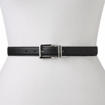 Women's Nike Perforated to Smooth Reversible Leather Golf Belt