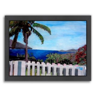 Americanflat English Harbour Framed Wall Art