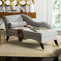 Safavieh Velvet Chaise & Pillow 2-piece Set