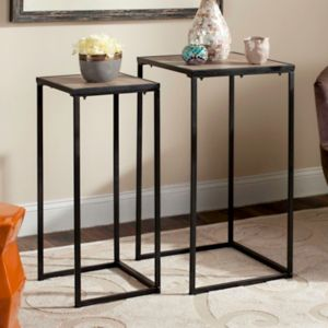 Safavieh Mid-Century Nesting End Table 2-piece Set