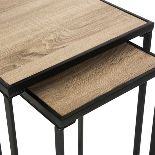 Safavieh Mid-Century Nesting End Table 2-piece Set
