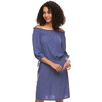 Women's SONOMA Goods for Life™ Smocked Off-the-Shoulder Dress