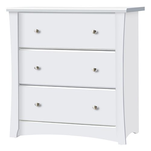 Stork Craft Crescent 3 Drawer Dresser