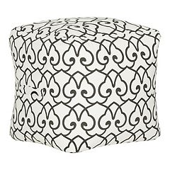 Safavieh Contemporary Scroll Pouf Ottoman