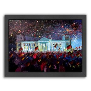 "Americanflat ""German Reunification Festivities Berlin Reichstag"" Framed Wall Art"