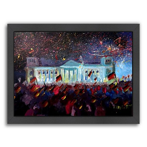 Americanflat German Reunification Festivities Berlin Reichstag Framed Wall Art