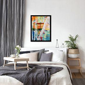 """Americanflat """"Grand Hotel In Gardone Riviera In Sunlight"""" Framed Wall Art"""