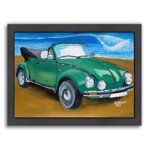 "Americanflat ""Green Bug At Beach"" Framed Wall Art"