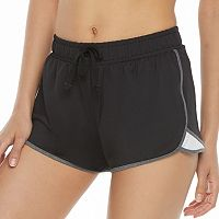 Juniors' SO® Contrast Trim Running Shorts