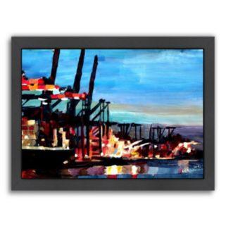 "Americanflat ""Hamburghafen"" Framed Wall Art"