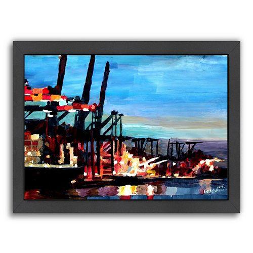 "Americanflat ""Hamburghafen"" Framed Wall Art"