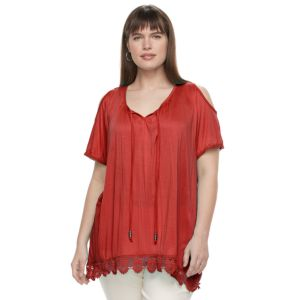 Plus Size French Laundry Cold Shoulder Top