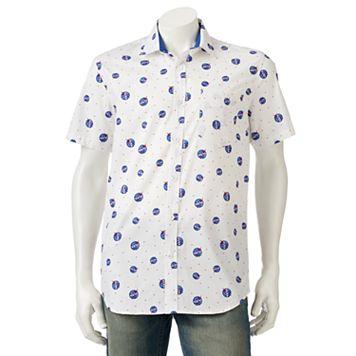 Men's NASA Logo Button-Down Shirt