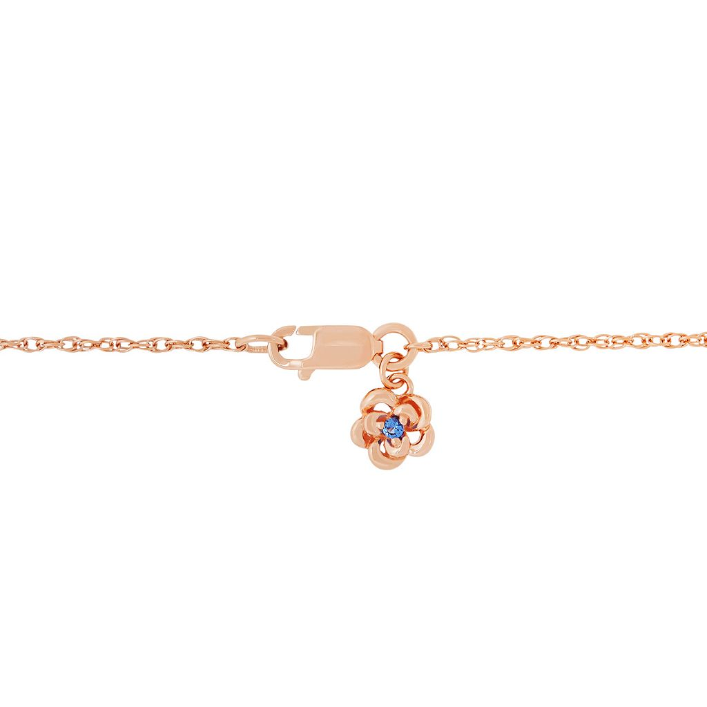 David Tutera 14k Rose Gold Over Silver Simulated Morganite & Cubic Zirconia Heart Pendant