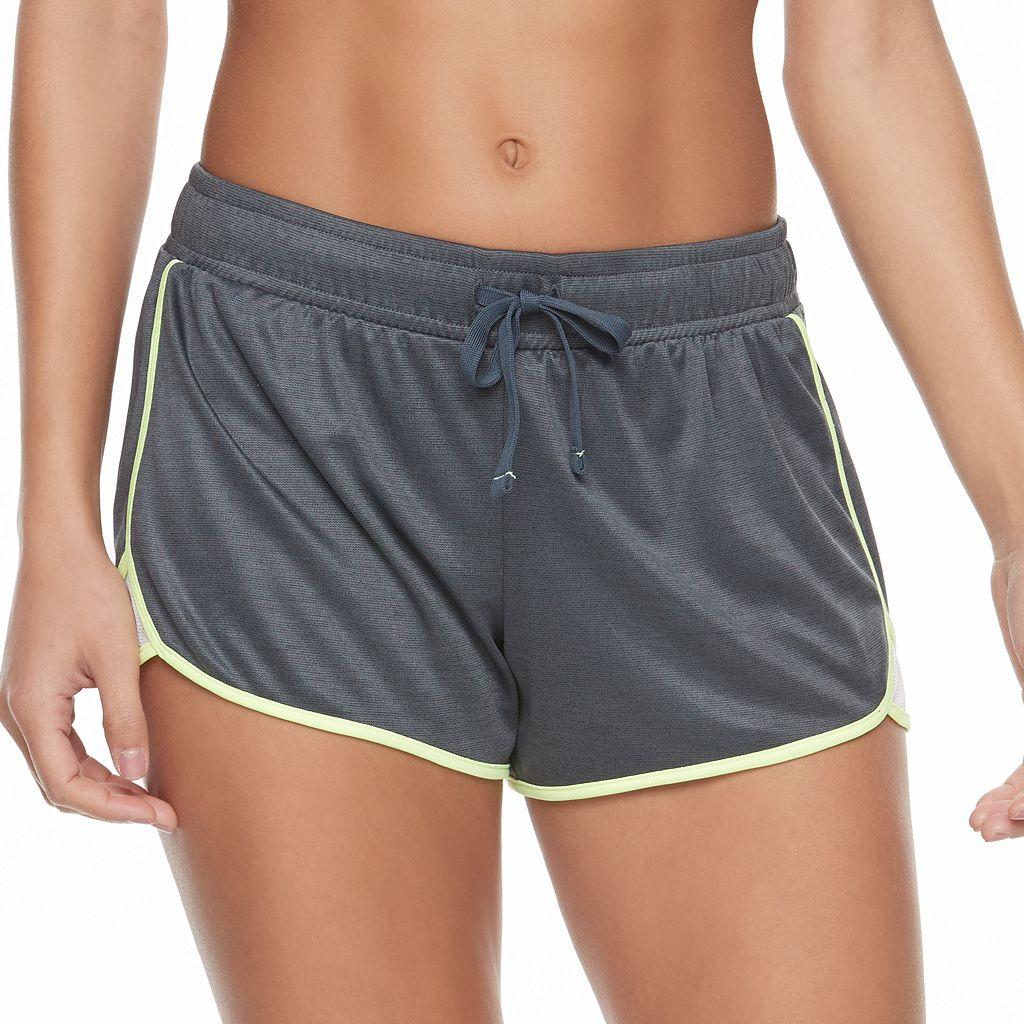 Juniors' SO® Textured Contrast Trim Running Shorts