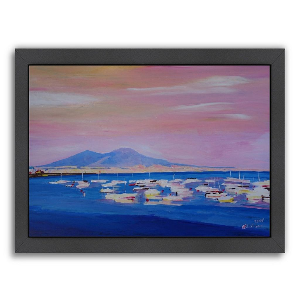 Americanflat Boats Naples, Italy Framed Wall Art