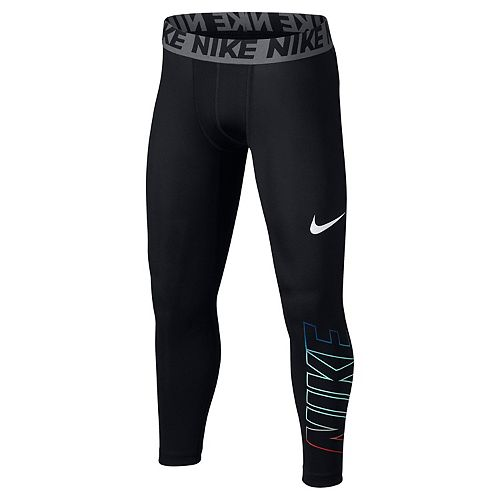 great prices classic style select for original Boys 8-20 Nike Base Layer Three-Quarter Leggings