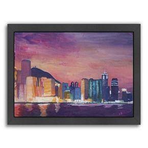 "Americanflat ""Hong Kong Night"" Framed Wall Art"