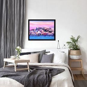 """Americanflat """"Ibiza Old Town And Harbour Pearl Of The Mediterranean"""" Framed Wall Art"""