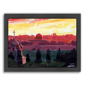 "Americanflat ""Jerusalem 3"" Framed Wall Art"