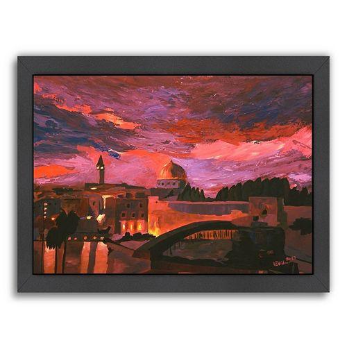 "Americanflat ""Jerusalem 2"" Framed Wall Art"