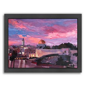"Americanflat ""Jerusalem"" Framed Wall Art"