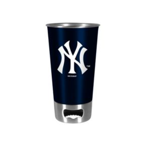 Boelter New York Yankees Pint Glass Bottler Opener