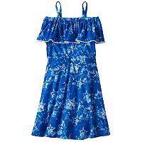 Girls 7-16 SO® Off Shoulder Drawstring Knit Dress
