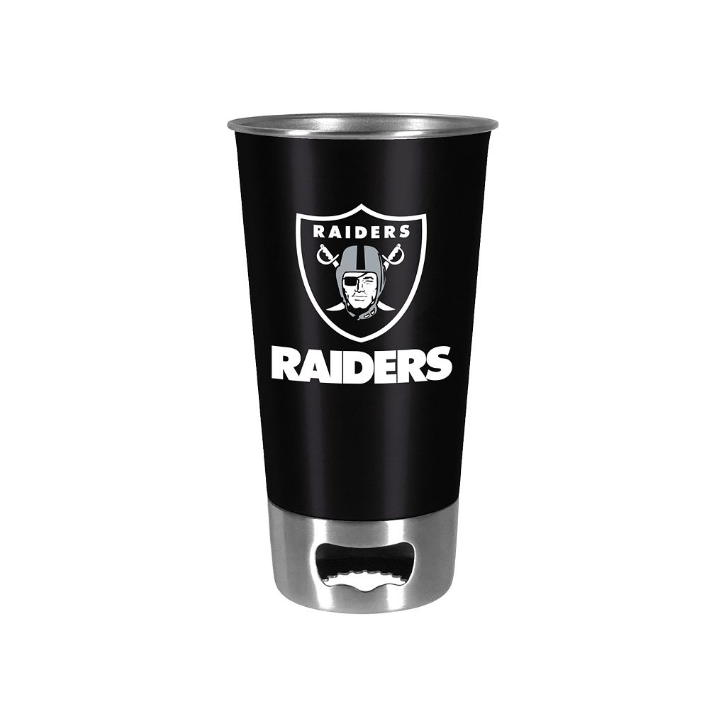 Boelter Oakland Raiders Pint Glass Bottler Opener