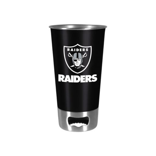 Boelter Oakland Raiders Pint Glass Bottler Opener