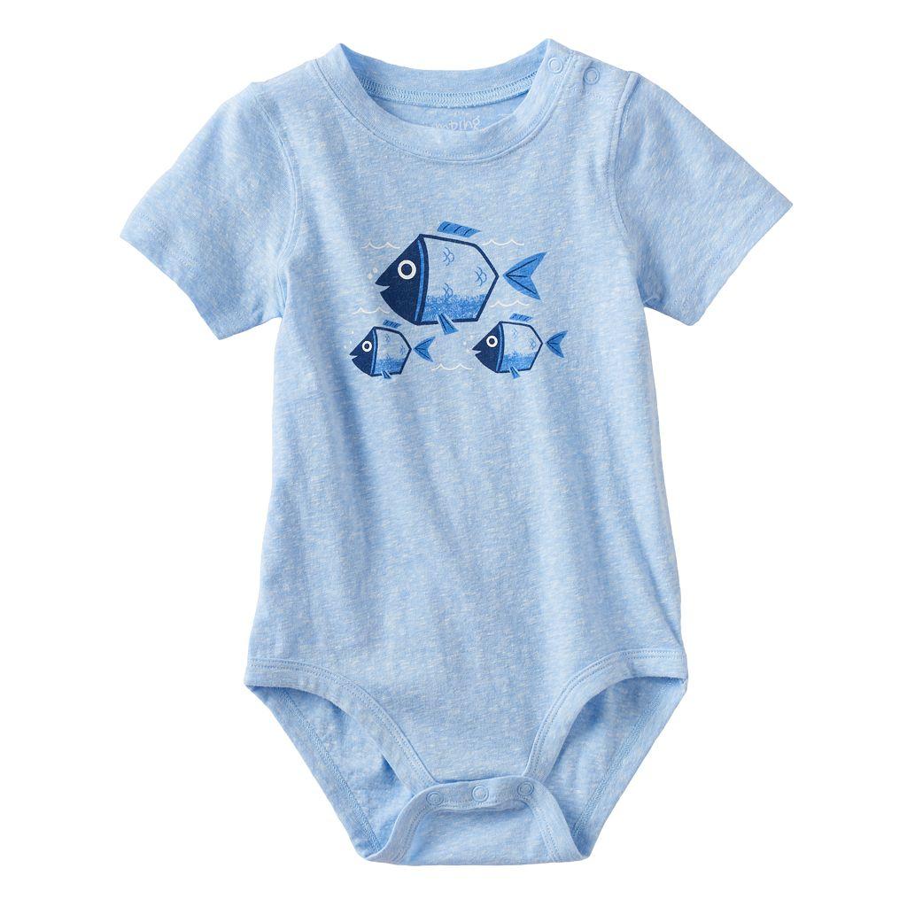 Baby Boy Jumping Beans® Fish Graphic Bodysuit