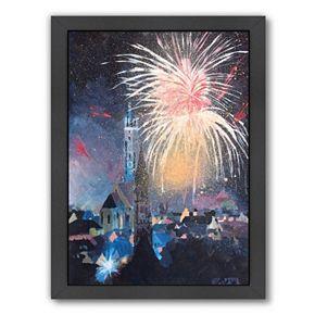 "Americanflat ""Landshut Bavaria Fireworks"" Framed Wall Art"