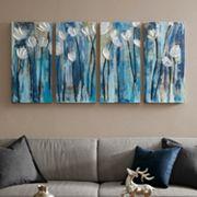 INK+IVY Ocean Breeze Blossom Canvas Wall Art 4 pc Set
