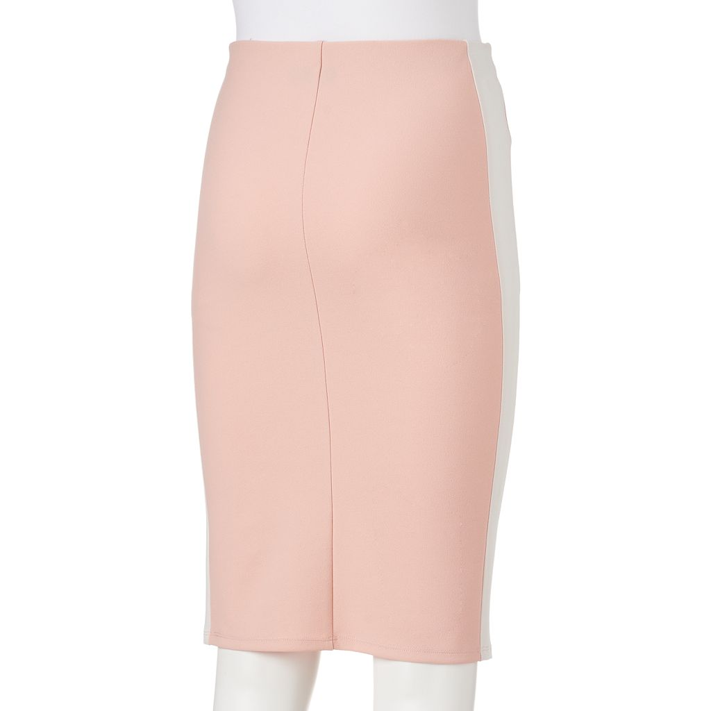 Juniors' Joe B Side-Stripe Pencil Skirt
