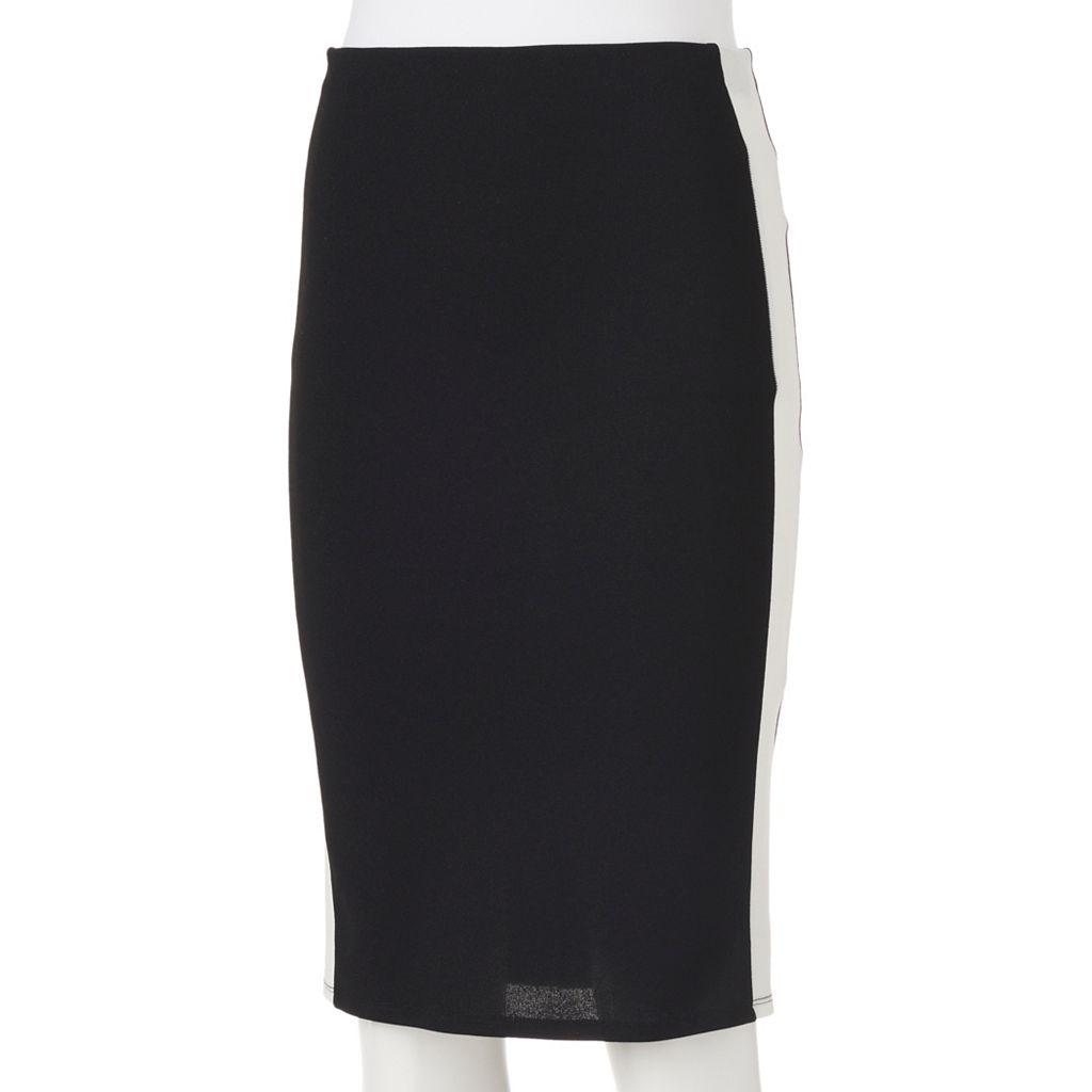 Juniors' Joe B Side-Stripe Pencil Skirt