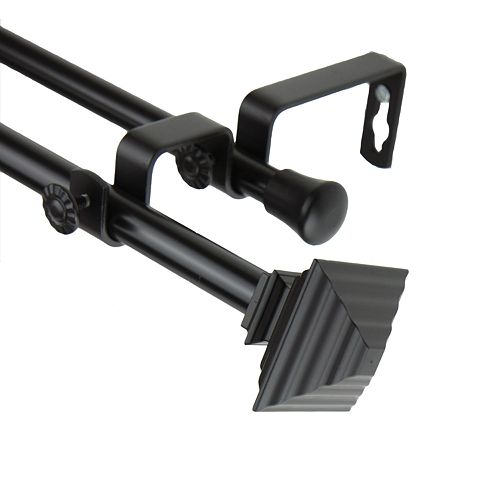 Rod Desyne Quad Adjustable Double Curtain Rod