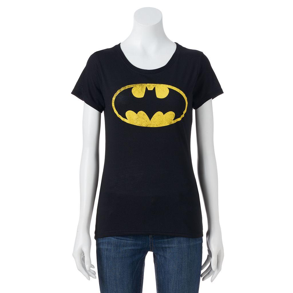 Juniors' DC Comics Batman High Low Graphic Tee