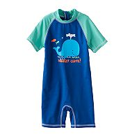 Baby Boy Wippette One-Piece Rashguard Swimsuit