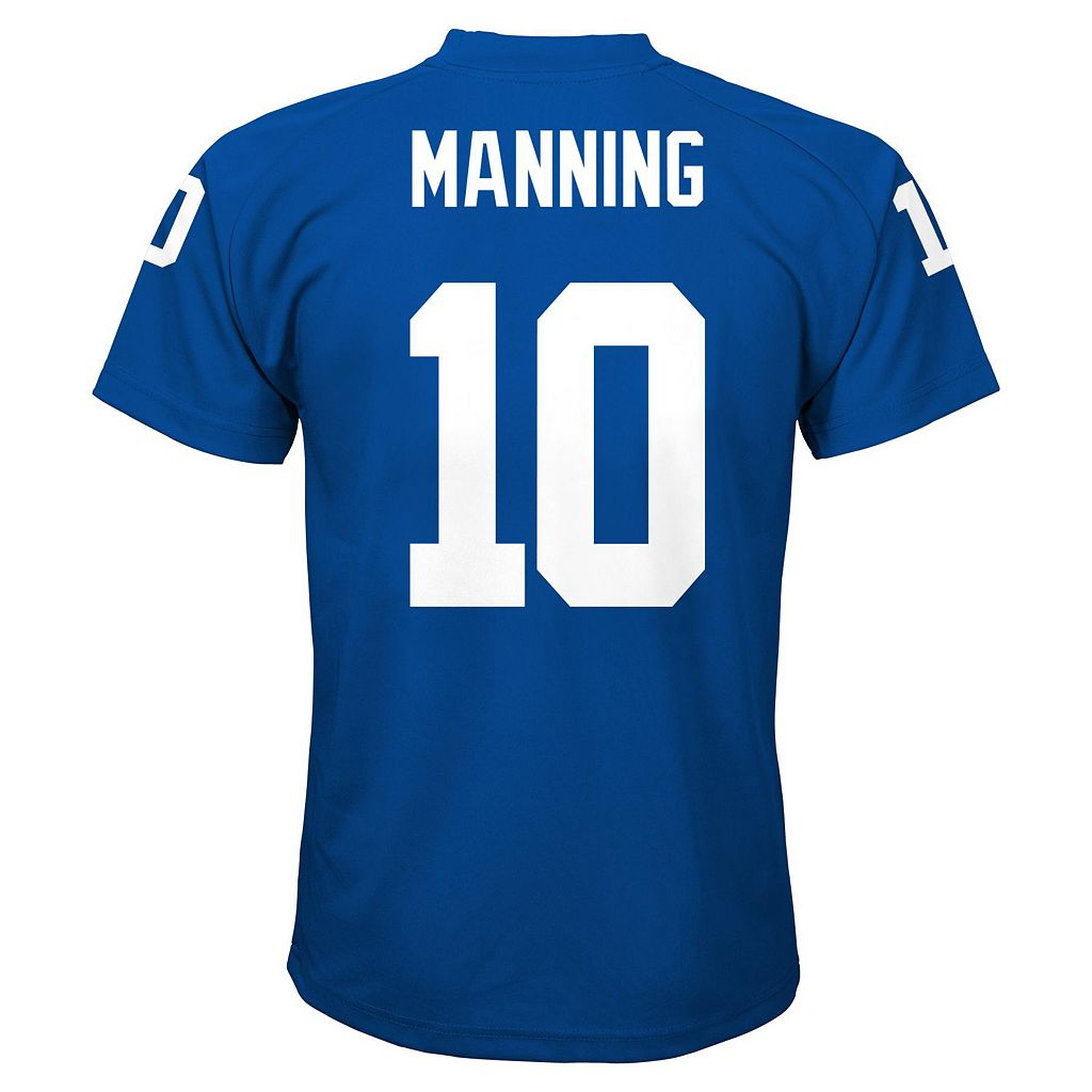 Boys 4-7 New York Giants Eli Manning Replica Jersey