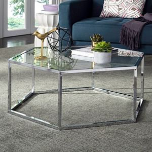 Safavieh Contemporary Glass Coffee Table