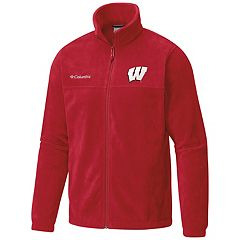 Men's Columbia Wisconsin Badgers Flanker II Full-Zip Fleece