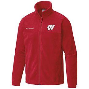 Men's Columbia Wisconsin Badgers Flanker II Full-Zip Fleece