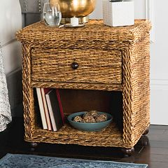 Safavieh Wicker 1-Drawer Nightstand