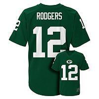 Boys 8-20 Green Bay Packers Aaron Rodgers Replica Jersey