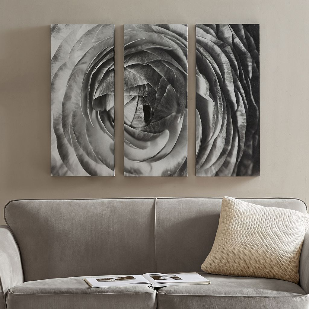 Madison Park Compass Rose Canvas Wall Art 3-piece Set