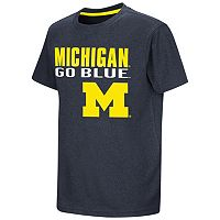 Boys 8-20 Campus Heritage Michigan Wolverines Heathered Tee